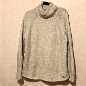 Michael kors cowl neckline chunky sweater gray